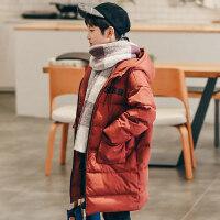 男童棉衣2018新款儿童加厚棉袄冬装中大童韩版潮装中长款外套 130cm(130 约7-8岁 尺码13