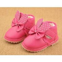 【冬季清仓】季加绒加厚儿童棉鞋女宝宝可爱软底小童鞋子小皮靴