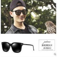 新款网红同款墨镜男士潮韩版偏光近视太阳镜个性圆脸眼睛