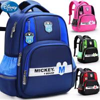 迪士尼儿童背包1一3年级米奇男童书包小学生女童女孩男孩护脊减负