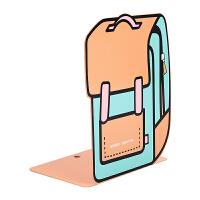 晨书文具书立铁书架一对可爱创意书包图案学生学习用品S91744
