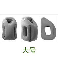 长途飞机旅行枕护颈枕充气U型枕便携u形枕睡觉神器靠枕头趴睡枕 浅灰色 适身高170及以上