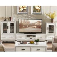 美式电视柜简约小户型现代储物客厅地中海实木家具茶几电视柜组合 整装
