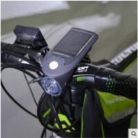 车把灯安全户外强光手电筒USB充电夜骑自行车灯前灯太阳能充电山地车灯