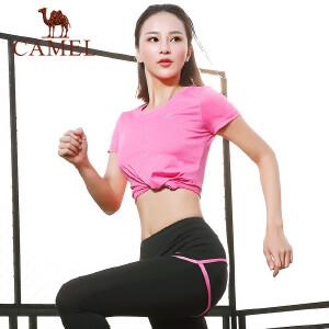 骆驼2018户外瑜伽服套装运动内衣长裤短裤透气跑步健身服四件套女