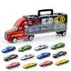 【悦乐朵玩具】儿童早教益智手提货柜车玩具车模模型送12辆小车送男孩女孩六一儿童节礼物