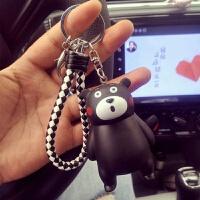 可爱创意钥匙扣熊本熊钥匙挂件背包挂件车钥匙链环铃铛相机挂件