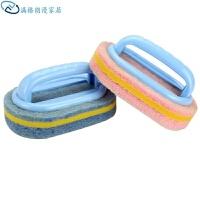 强力去污浴缸刷神奇海绵瓷砖刷子厨房用品洗锅清洁刷海绵擦 颜色随机