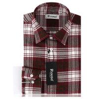 洛兹男正品秋季新款商务休闲全棉长袖格子衬衫男士长袖衬衣LM14418-41 LM14409-41