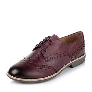 Teenmix/天美意秋季专柜同款-擦色牛皮革女皮鞋6RY35CM6
