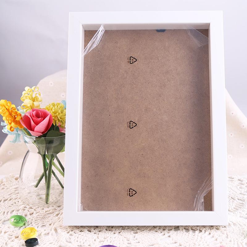 摆台相框A4亚克力相框塑料画框胶相框支架画框奖状证书 A4白色木质相框木质相框 A4大小 白色