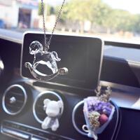 汽车挂件新款水晶小木马车内饰品车载挂饰车用女士吊坠后视镜车挂