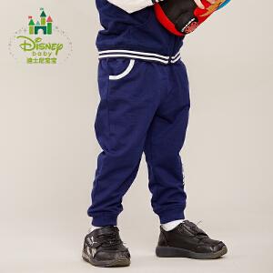 迪士尼Disney童装男童裤子春秋宝宝运动裤纯棉休闲外出长裤171K736