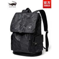 鳄鱼男士旅游旅行包帆布简约时尚潮流书包双肩包商务休闲电脑背包
