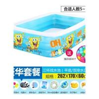 婴儿童充气游泳池家庭大型大号海洋球池加厚戏水池浴缸 抖音