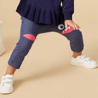 美特斯邦威旗下moomoo童装春秋装仿牛仔裤男女幼童新款儿童棉裤子宝宝长裤