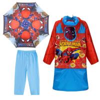 蜘蛛侠学生儿童雨衣雨鞋套装雨具男童宝宝保暖雨靴中大童雨披雨伞