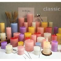求婚生日表白香薰蜡烛CLASSIC圆柱彩色蜡烛生日表白浪漫婚庆礼蜡烛 去烟大柱蜡无味蜡烛