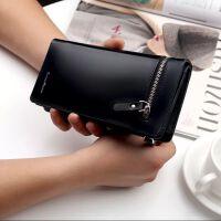 韩版男士钱包长款拉链手拿包多功能商务钱夹手包皮夹子男手机包