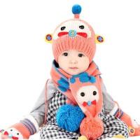 秋冬天1-2岁男女儿童帽   套头帽  6-12个月婴幼儿毛线帽  宝宝帽子围巾
