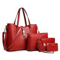 女包新款韩版潮时尚三件套子母包欧美复古手提包单肩女包斜挎包母子包