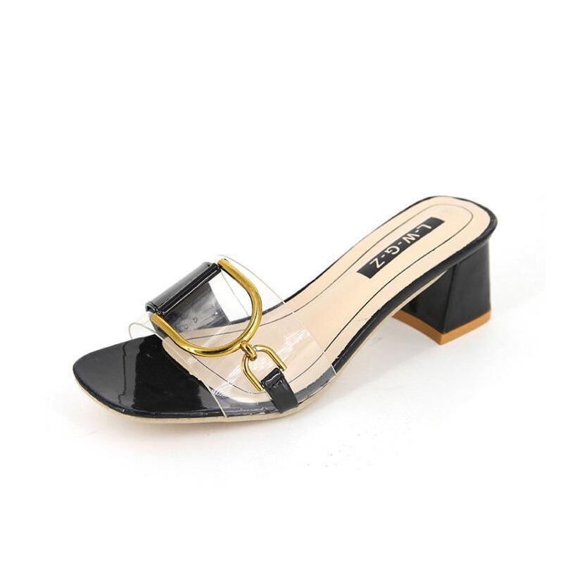 WARORWAR新品YN8-558夏季韩版粗跟女鞋潮流时尚潮鞋百搭潮牌凉鞋女