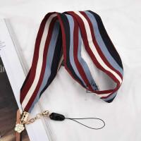 丝巾雪纺手机挂绳挂脖女款个性创意丝带宽带长不勒脖可拆卸短手绳