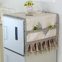 中式双开门康佳防水西门子冰箱盖布罩。对冰箱上的盖布防尘盖帘布