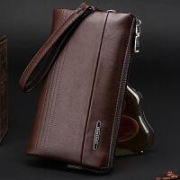 新款男士手包休闲手拿包钱包大容量多卡位男包软面小包手抓包