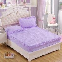 梓萌夹棉床笠床罩单件防滑席梦思床垫保护套加厚床垫套床单1.8m床