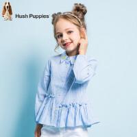 【2件5折:99元】暇步士童装春季新款女童衬衫时尚小清新长袖衬衫儿童衬衫