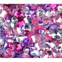 随机七彩玻璃宝石DIY发饰品材料包配件彩色水晶手工制作串珠玩具