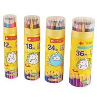小鱼儿 儿童彩色铅笔 学生绘画 涂鸦 涂色彩铅笔 筒装 款式可选