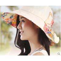 新款大沿户外韩版遮阳帽女韩版防晒帽可折叠沙滩太阳帽女