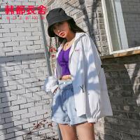 韩都衣舍2020韩版女装春装新款宽松收腰上衣休闲短外套OM81408焕