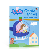 【全店300减100】英文原版 Peppa Pig On the Move 粉�t�i小妹佩奇 交通工具大集合 贴纸书 粘纸