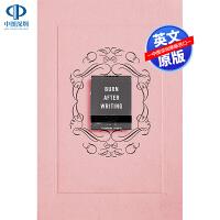 英文原版 Burn After Writing (Pink) 全英文版小说