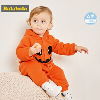 巴拉巴拉婴儿连体衣秋冬哈衣新生儿衣服女宝宝爬爬服0-3个月男童
