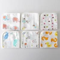 棉纱布口水巾洗脸巾婴儿喂奶巾8条装 手帕小方巾四季