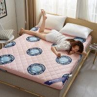 榻榻米床垫双人1.8m床1.5米x2软褥子1.2学生宿舍床褥加厚海绵垫子 棉-- 哈咪猫粉