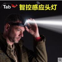 感应头灯 LED夜钓强帽灯上饵灯钓鱼灯光亮 充电式锂电池夹