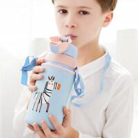 Face儿童带吸管保温杯小学生幼儿园水杯子宝宝可爱两用不锈钢水壶