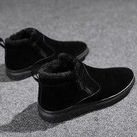 男鞋韩版男靴子雪地靴男冬季保暖加绒男士棉鞋青少年加厚东北棉靴