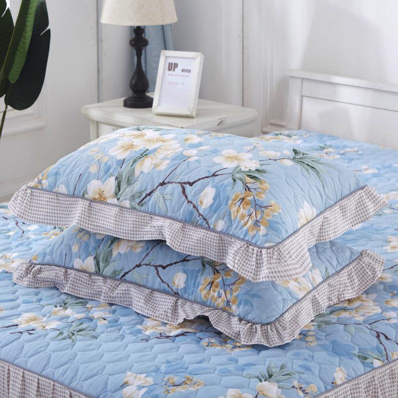 一对装夹棉加厚枕套枕芯罩枕头套单人用大号夏天  48cmX74cm