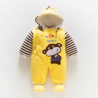秋冬套装新生婴儿衣服秋装女冬装宝宝连体衣男加厚冬季外出抱衣