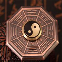 ?指尖陀螺太极八卦金属铜手指螺旋陶瓷轴承?
