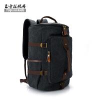 多功能行李包帆布书包女韩版大容量双肩包男健身背包三用旅行背包
