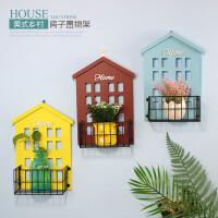 小房子置物架室内创意家居客厅墙上花架饭店墙面挂饰墙壁装饰挂件