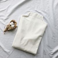 2018新款加绒加厚半高领打底衫女秋冬 直筒纯色内搭长袖T恤女