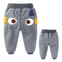 童装宝宝加绒裤子男1-3岁婴儿外穿加厚运动裤儿童卡通冬款棉裤潮